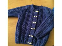 Hand knitted Aran cardigans