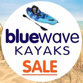 BLUEWAVE KAYAK WINTER WAREHOUSE CLEARANCE - KAYAKS SUPS PADDLE BOARDS FISHING KAYAKS