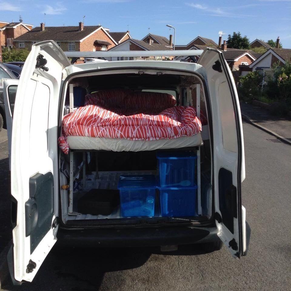 renault kangoo camper conversion in clapham london. Black Bedroom Furniture Sets. Home Design Ideas