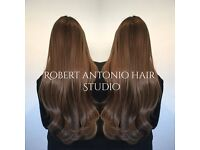 Robert Antonio Hair extension specialist. LA Weave, Nano rings & Tape prices from £150