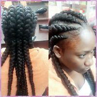 Tresses africaines, tissages, perruques