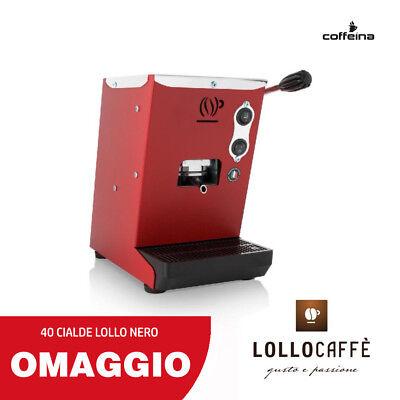 Macchina caffè cialde ese 44 mm piccola LOLLINA ROSSO ROSSA + REGALO COFFEINA