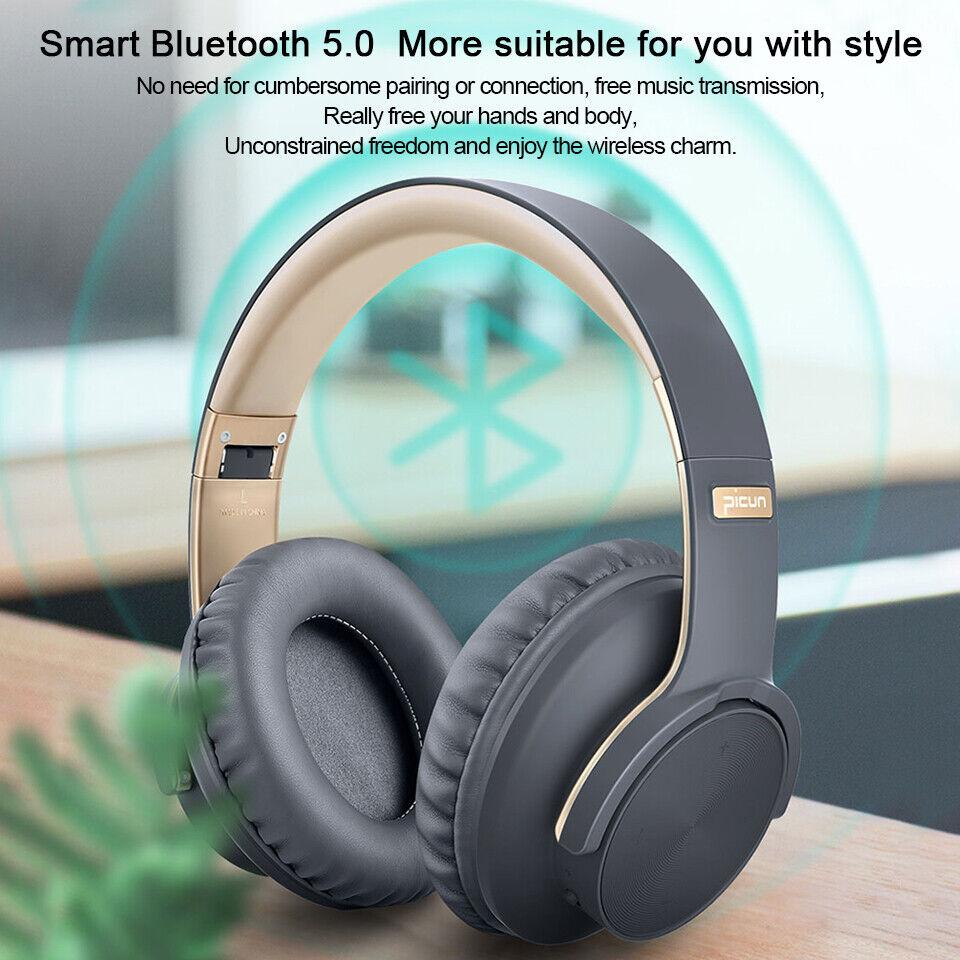 PICUN Bluetooth 5.0 Headphones Wireless HIFI 4D Sound Earpho