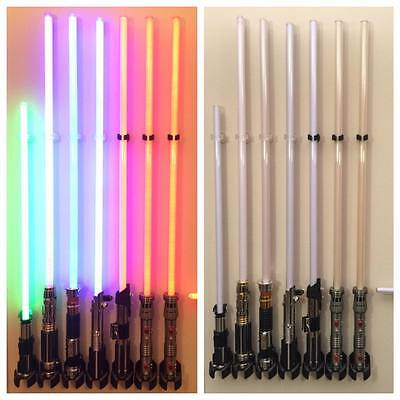 SABER STAND Lightsaber Wall Mounts Stand for Lightsaber Force FX  CLEAR TOP
