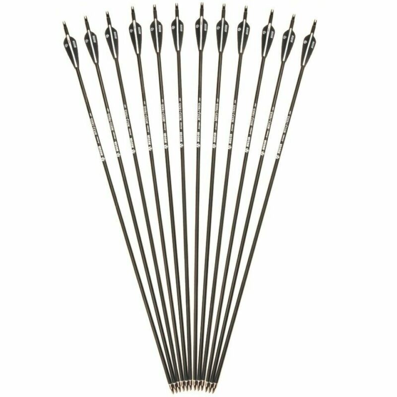 """US 12x30"""" Mixed Carbon Arrows Archery Spine 500 For Compound Recurve Bow Shoot"""