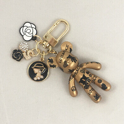 Art peace bear 02 Luxury air-pod charm key chain bag charm