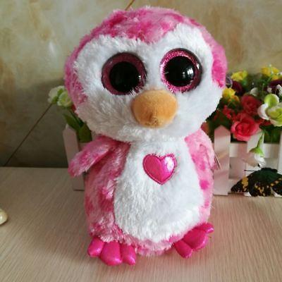 """Ty Beanie Boos 6"""" Juliet Pink Penguin Plush Stuffed Animals Toy Valentine Gift"""