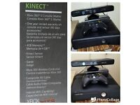 XBox 360 with Kinect and one Remote