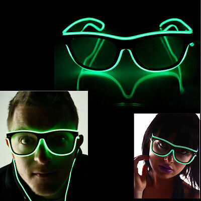 Neon El Wire Party Glasses LED Glow Flash For Fun Party Halloween Xmas - Fun Glasses For Parties