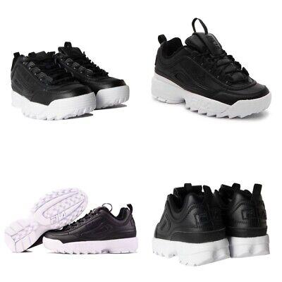 FILA Disruptor II Women's Black/White Leather. 5FM00105 013 ()