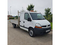 NO VAT 2009 58 RENAULT MASTER 2.5 DCI 120, DROPSIDE, CREWCAB PICKUP, IDEAL RECOVERY, PX WELCOME