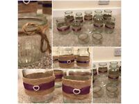 Large collection of Wedding items for sale, jars, invitations, flowers, signs
