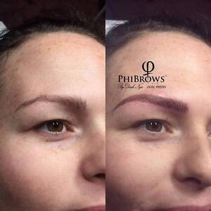 Eyebrow feathered hairs strokes & Microblading cosmetic tattoo Kingsley Joondalup Area Preview