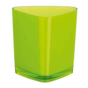 Spirella-Trix-Acrilico-Kiwi-verde-taza-de-diente-Vaso-enjuague-bucal-Negro