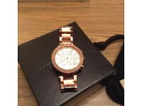MICHAEL KORS ROSE GOLD DIAMONTE WATCH - PARKER - PRICE REDUCED