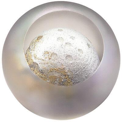 Glass Eye Studio celestial series paperweight Moon 488F - Brand New (Studio Dekoration)