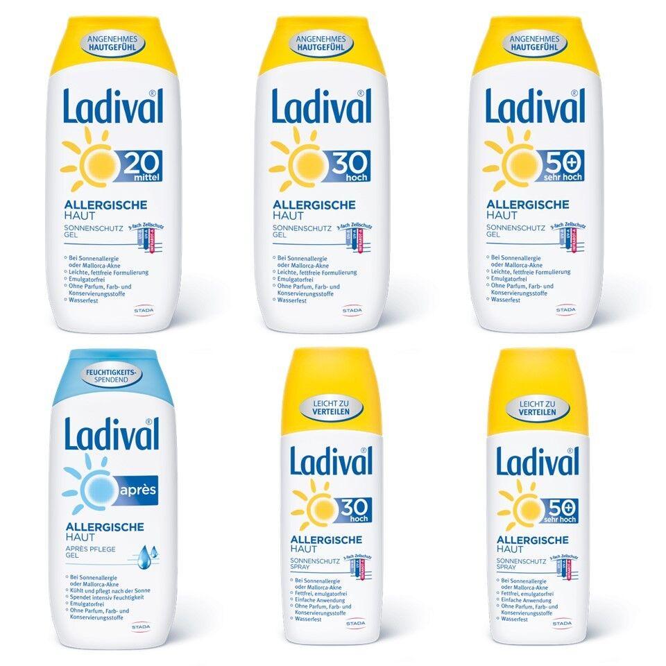 LADIVAL allergische Haut Gel 200ml oder Spray 150ml LSF 20 30 50 apres wählbar