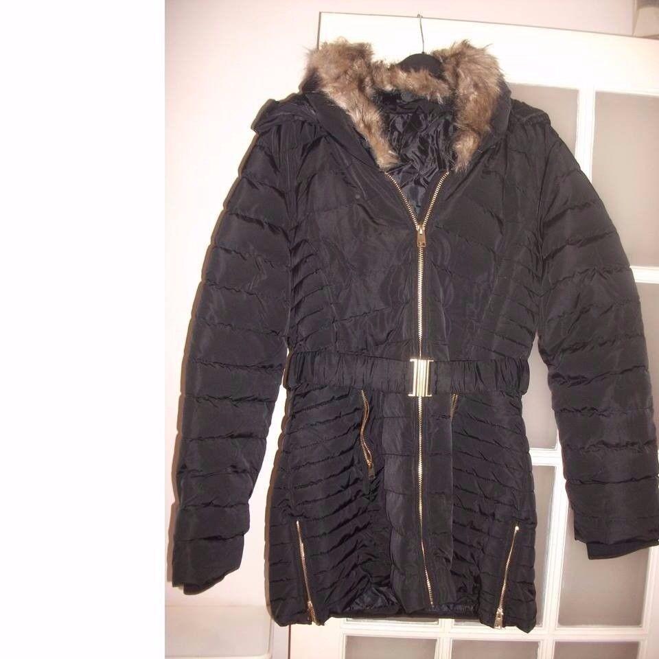 Golddigga Belted Bubble Jacket Ladies NEW