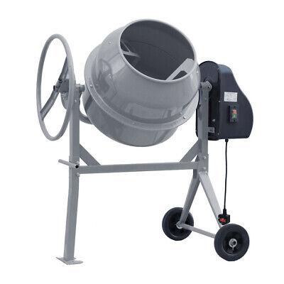 Electric Cement Mixer Portable Mortar Plaster Concrete Drum Grey Stand 450W 120L