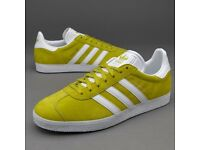 Mens, Adidas Originals Gazelle Lime Green Suede Trainers.