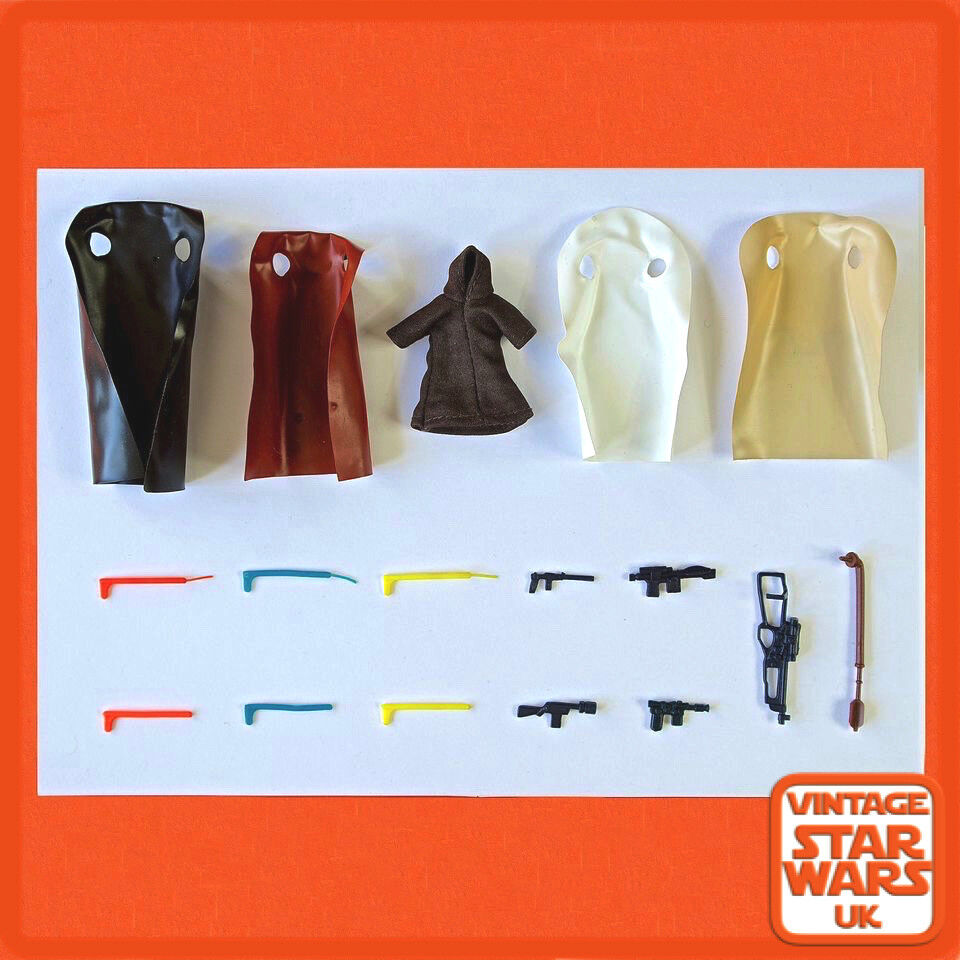 Vintage Star Wars - A New Hope Original Weapons Guns Capes Accessories ANH