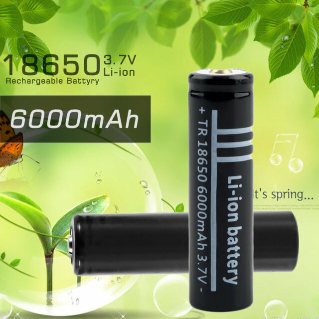 3.7V 6000mAh 18650 Li-ion Rechargeable Battery for Flashlight HC