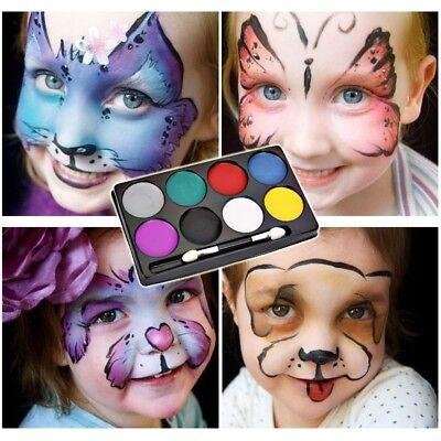 Face Paint Halloween Makeup Non-toxic Water Paint 8 Colors Kids Face Painting - Kid Halloween Makeup
