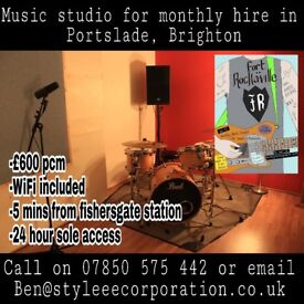 Music production and rehearsal studio for monthly hire BN41