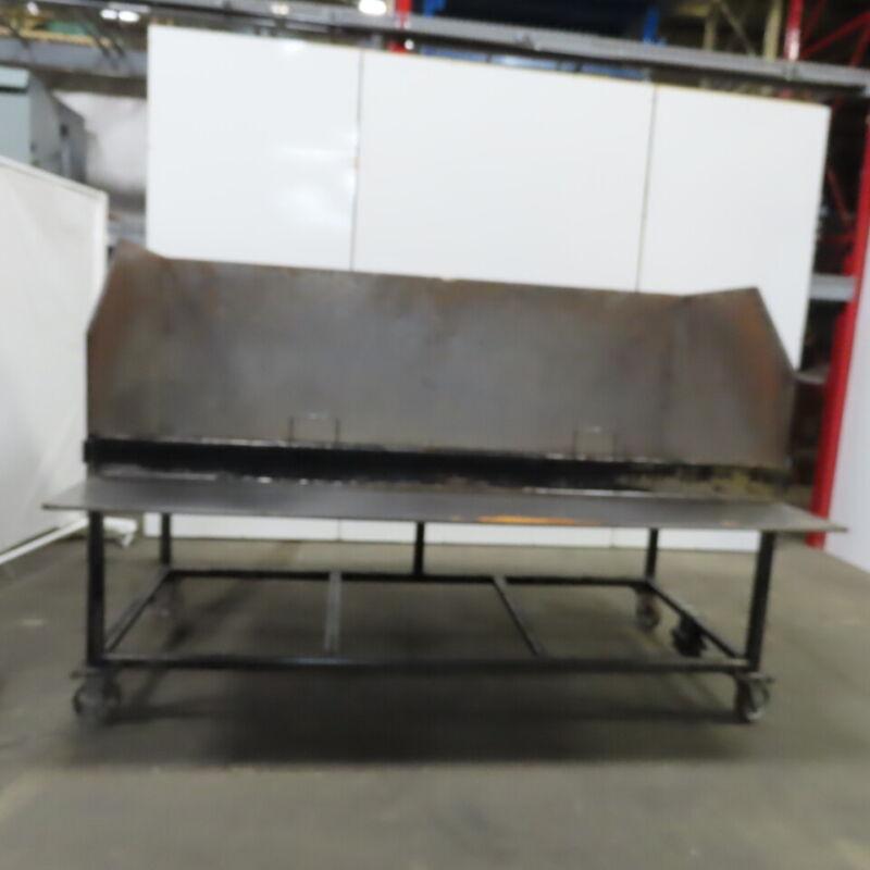 "Industrial 37-3/4"" X 95"" X 32""h Steel Bulk Parts Sorting Bin Hopper"
