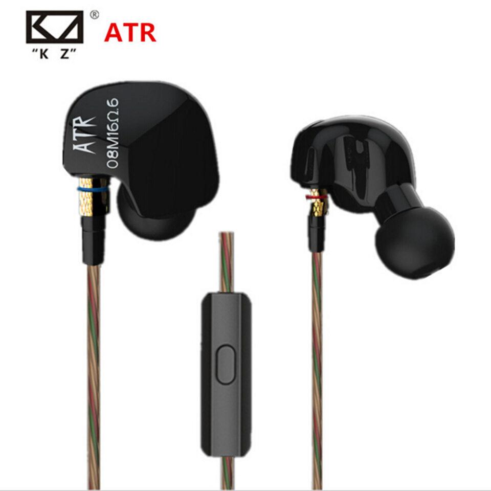 KZ ATR Super Bass Earphone HIFI Stereo Headphones Sport Runn