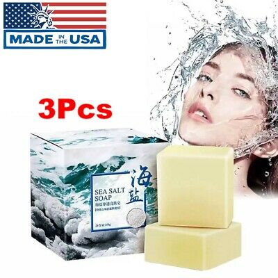 Mild Goat Milk Sea Salt Soap Face Bath Shower Shrinks Pores Acne Treatment 100g Goat Milk Bath Salts