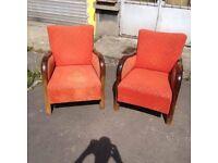 Lounge Chairs, Large Comfortable, Beautiful Seats Reading Mid-Century Sleek Arms