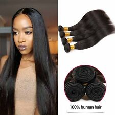 US Virgin 100% Brazillian Weave Human Hair 3 Bundles Extensions Free Shipping HQ