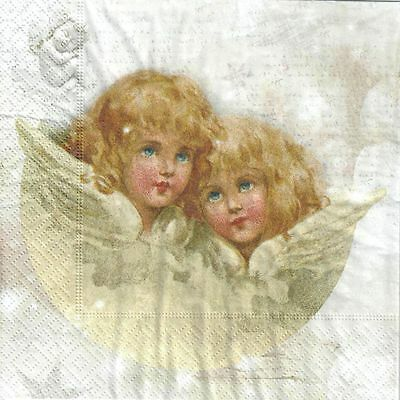 150 Classic Single (4 Single paper decoupage napkins.angels, angel, classic, romantic design -150)