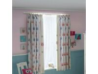 Pretty Owls Blackout Pencil Pleat Curtains 2 x 168cm wide by 137cm drop , excellent condition