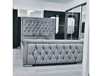 🎁🎉Immediate Dispatch🎊🎁Double and king Size heaven bed frame with optional mattress