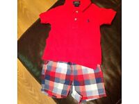 boys 12-18 month ralph lauren polo and next shorts