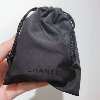 CHANEL SMALL DRAWSTRING TRAVEL JEWELRY MAKEUP GIFT STORAGE BAG POUCH  - Small Drawstring Bag