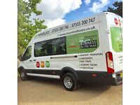 Minibus Hire & Driver - 8 to 70 seaters - travel Nationally and Europe - immediate quotes.