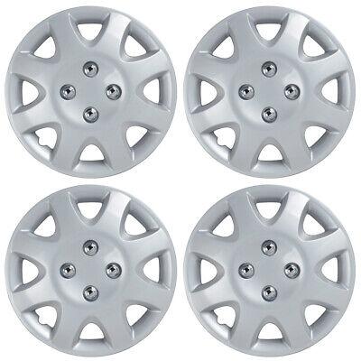 "4-Pack Rim Wheel Covers Set 14"" Silver Hubcaps OEM Replacement ABS Hub Caps"