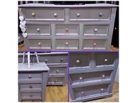 3 solid wood chest of drawers massive storage set mix match draw pulls newly lined drawers 2mths old