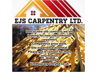 Carpenters required (subcontracting basis)
