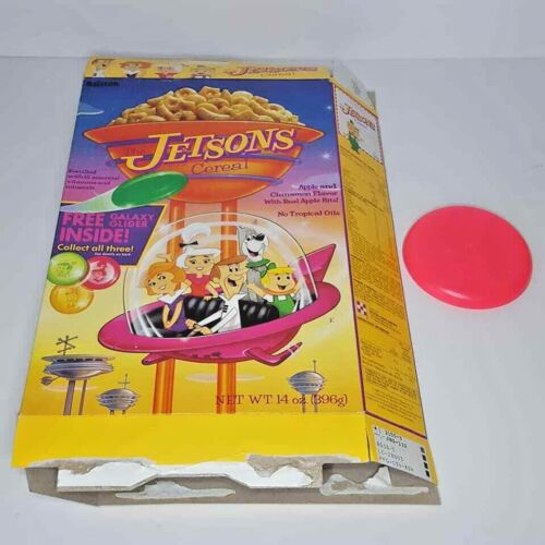 Jetsons Cereal Box 1990 Flying Disc Judy 14 oz Flat Ralston Purina Astro George