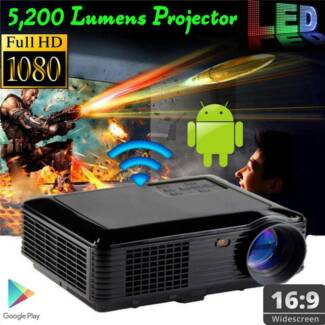 5,2OO Brightness Android OSWifi Full HD 1080P LED Video Projector