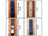 VARIOUS SPARE/REPLACEMENT REMOTE CONTROLS ~ ONE FOR ALL/VESTEL/LG/SKYWORTH/WHARFEDALE