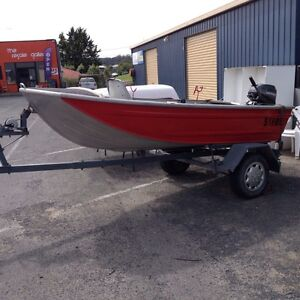 Aluminium boat and trailer St Helens Break ODay Area Preview