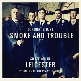 Speakeasy Blinders Pop Up Event Tickets x2 LEICESTER March 16 Friday Peaky SOLD OUT EVENT