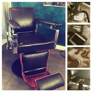 Chaise barbier coiffure tattoo tatoueur