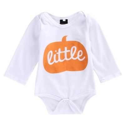 1st Halloween Baby little Pumpkin costume Bodysuit Romper Vest outfit UK