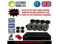 4 Cameras AHD CCTV